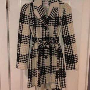 Black and white tween pea coat
